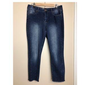 Hydraulic size 14 Studded dark wash  Jeans